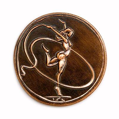 Gymnast girl, 1987., copper, struck, 40 mm