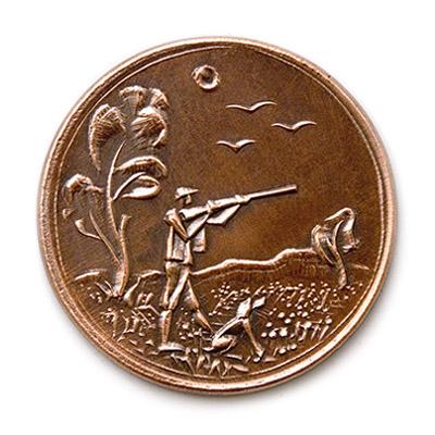 Hunter, 1988., copper, struck, 40 mm
