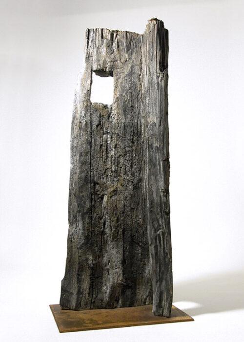 Hét Torony - Hommage à József Attila, 2008., fa, vegyes technika, 73 cm