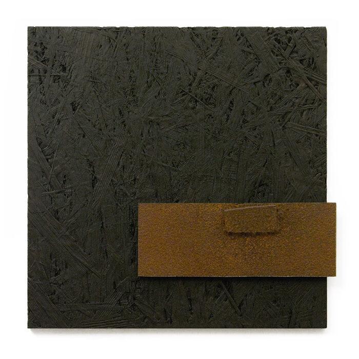 Relief XCVII., 2011., wood, iron, mixed media, 38,5 x 40 cm