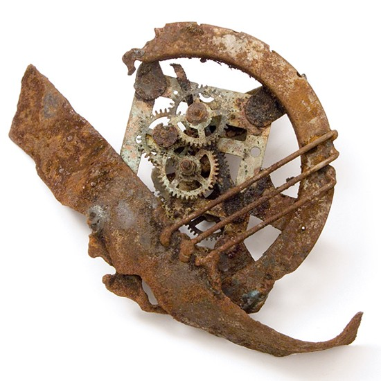 Ancient times, 2014., iron, clockwork &c., mixed media, 120 x 150 mm