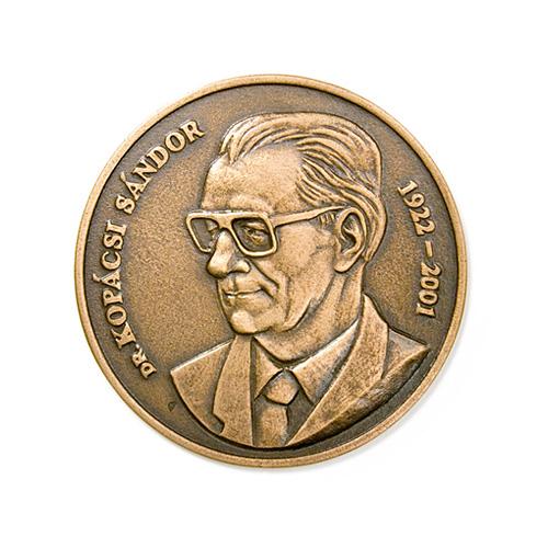 Sándor Kopácsi, commemorative medal, specimen, bronze, cast, 100 mm